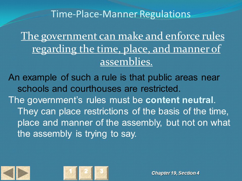 Time-Place-Manner Regulations
