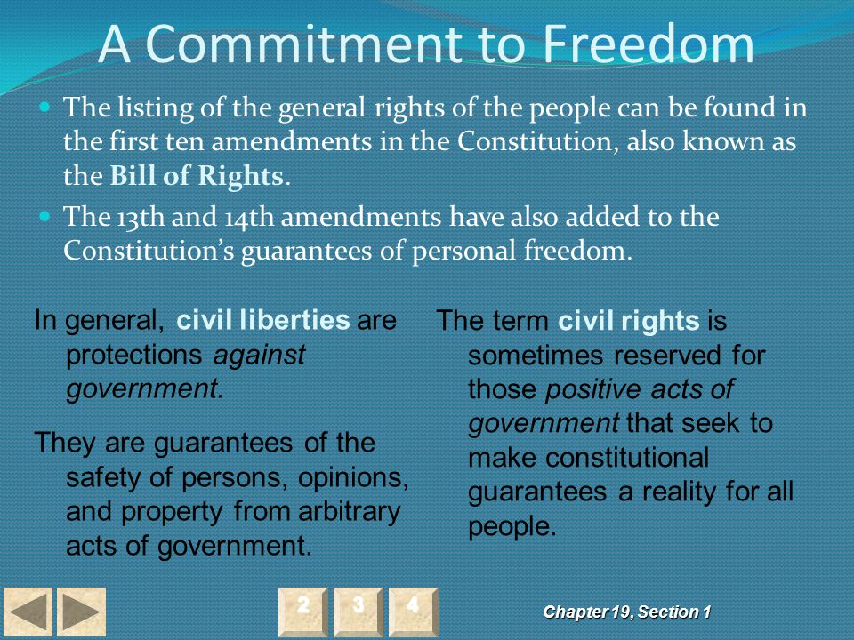 A Commitment to Freedom