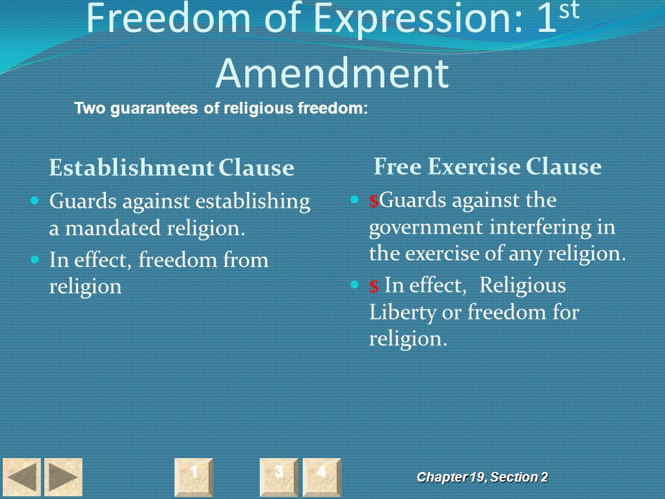 Freedom of Expression: 1st Amendment