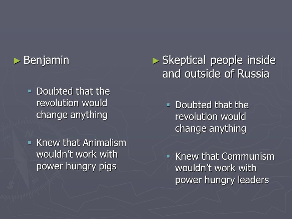 Skeptical people inside and outside of Russia