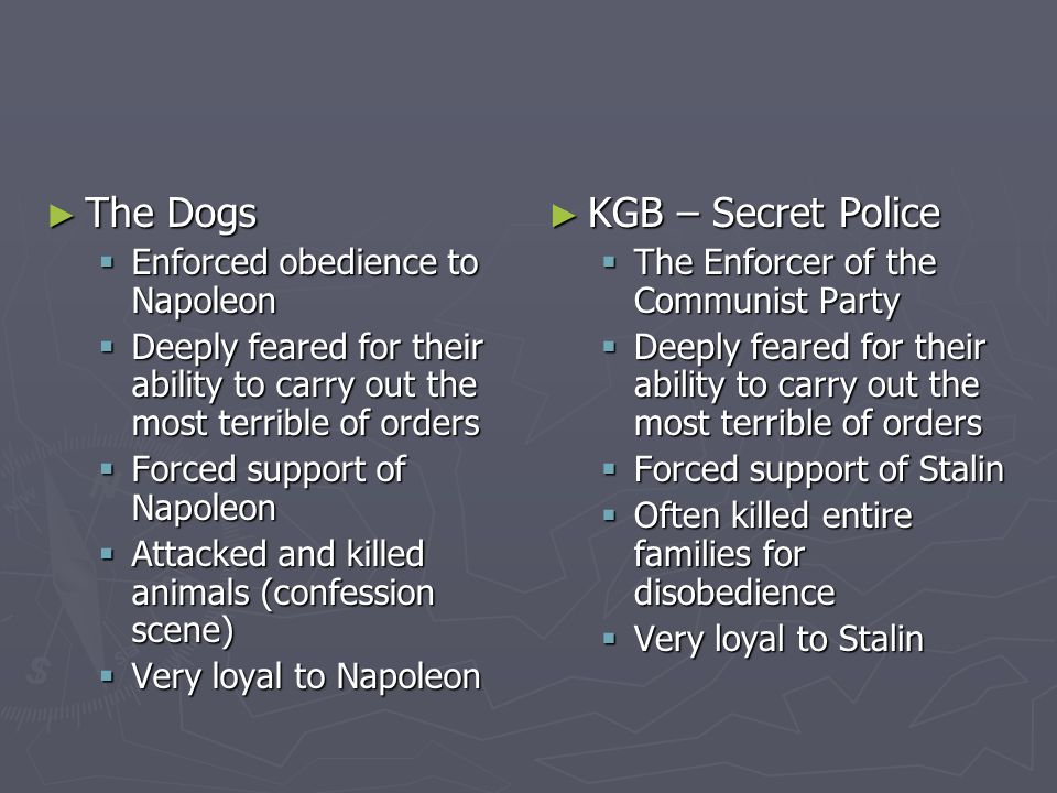 The Dogs KGB – Secret Police Enforced obedience to Napoleon