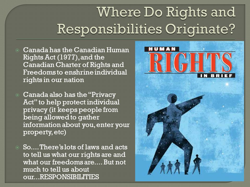 Where Do Rights and Responsibilities Originate