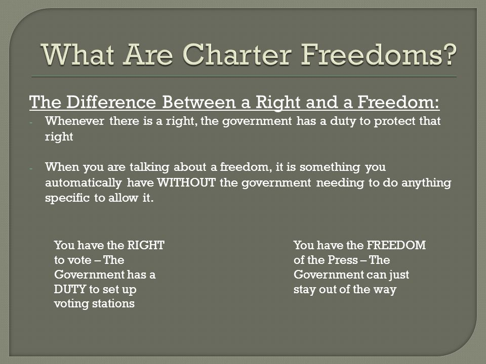 What Are Charter Freedoms