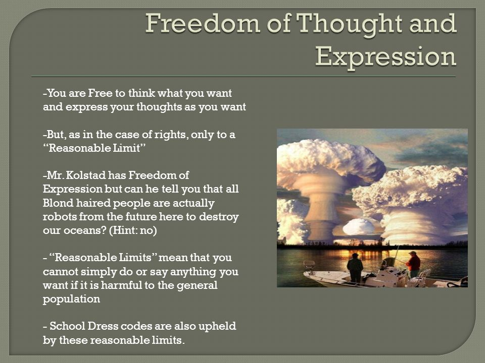 Freedom of Thought and Expression