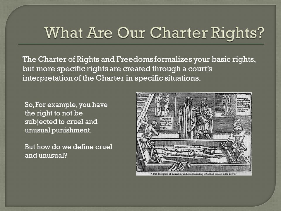 What Are Our Charter Rights