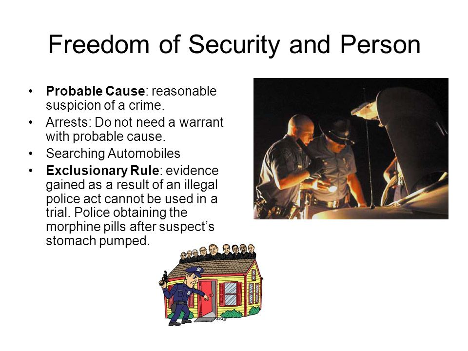 Freedom of Security and Person