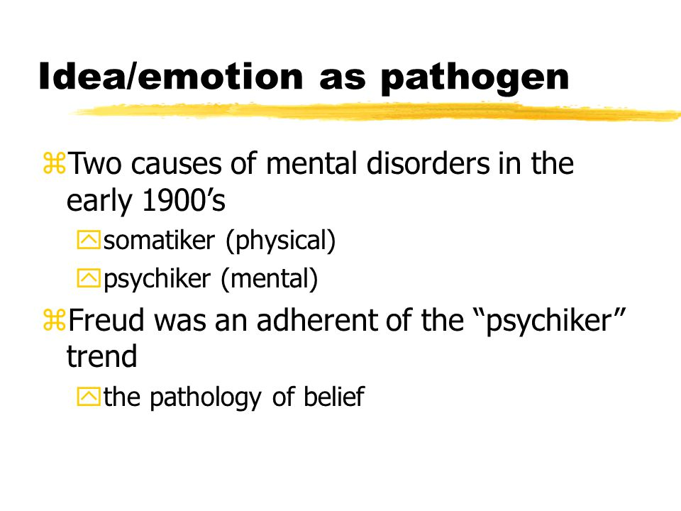 Idea/emotion as pathogen