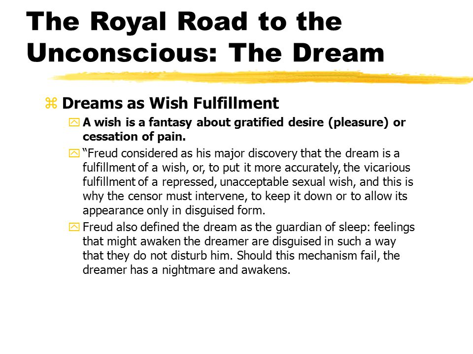 The Royal Road to the Unconscious: The Dream