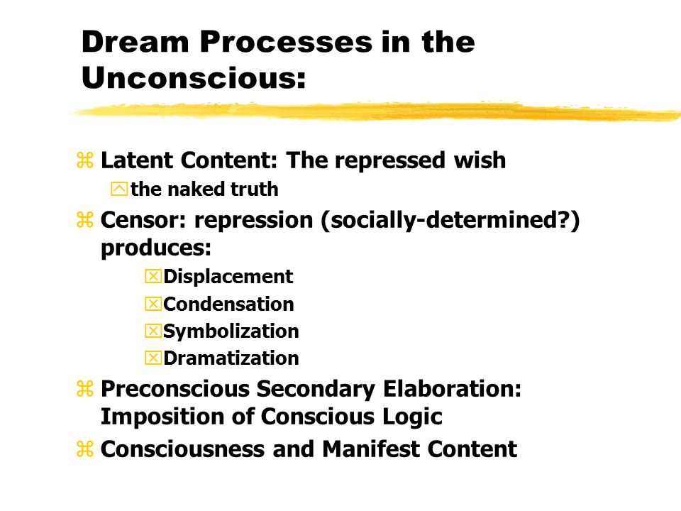 Dream Processes in the Unconscious: