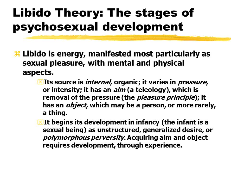 Libido Theory: The stages of psychosexual development