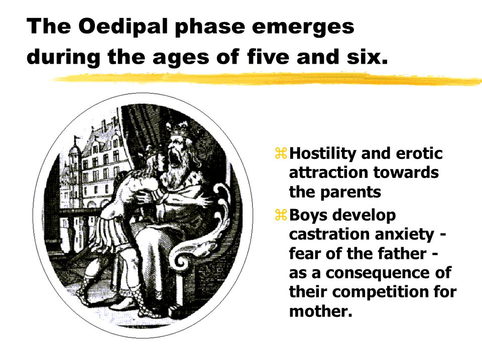 The Oedipal phase emerges during the ages of five and six.