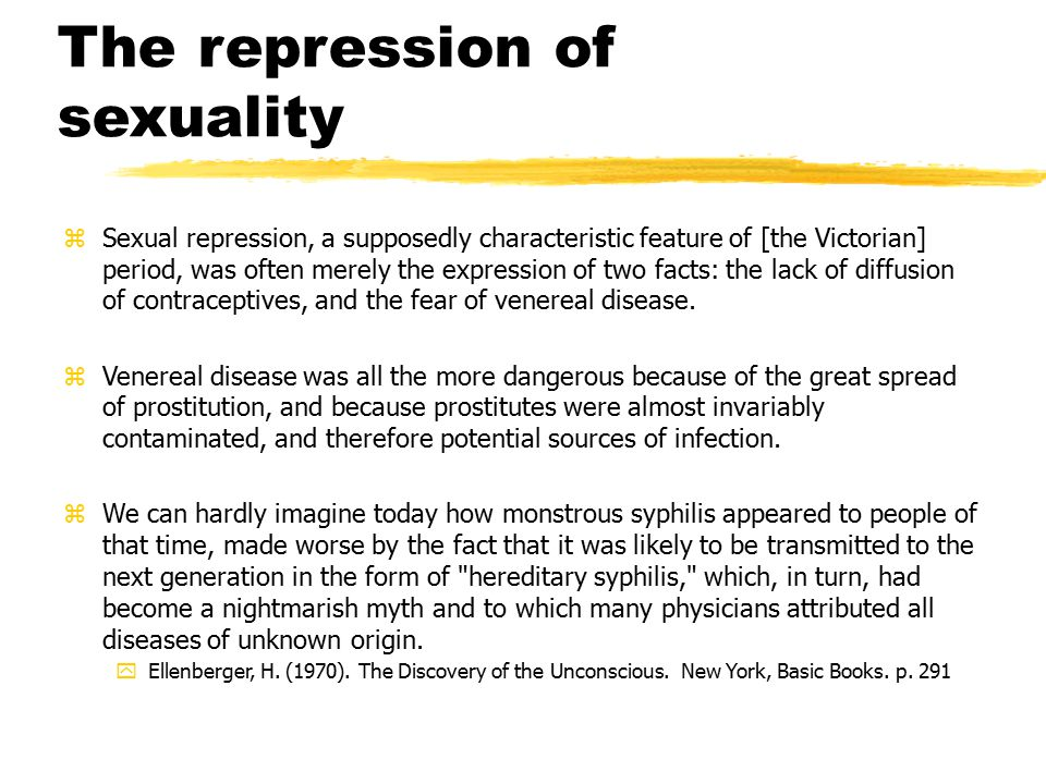 The repression of sexuality