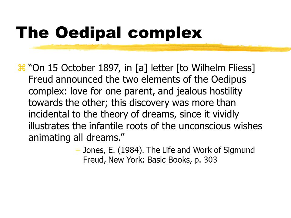 The Oedipal complex
