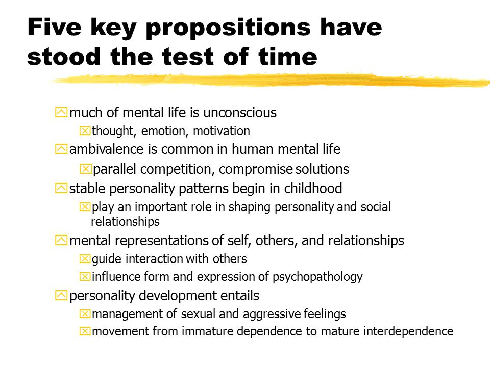 Five key propositions have stood the test of time
