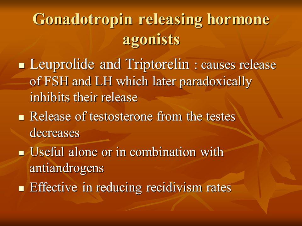 Gonadotropin releasing hormone agonists