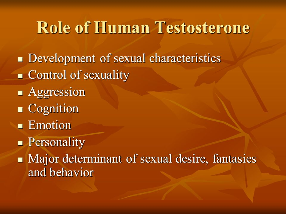 Role of Human Testosterone