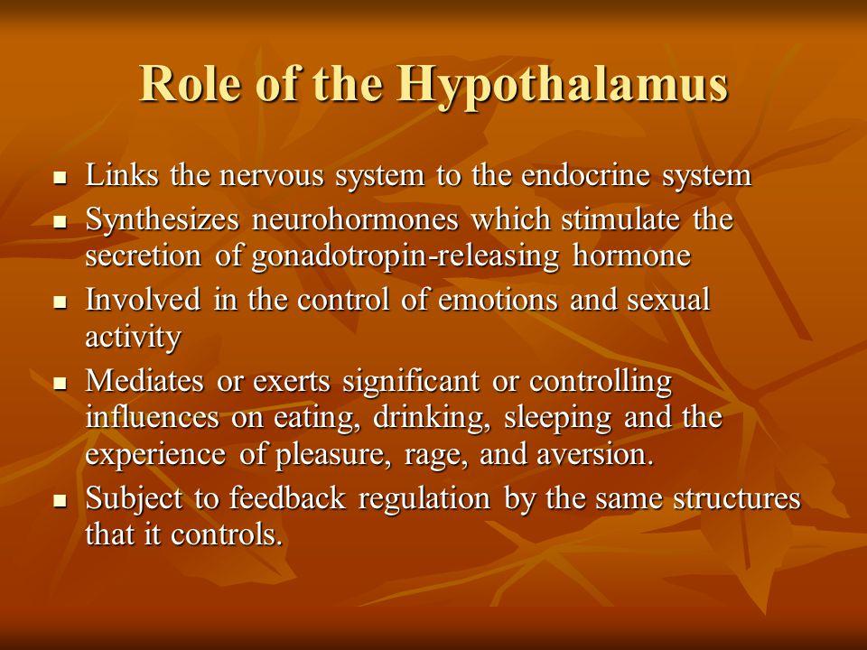 Role of the Hypothalamus