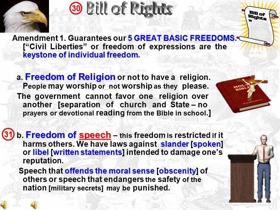 30 Bill of Rights.