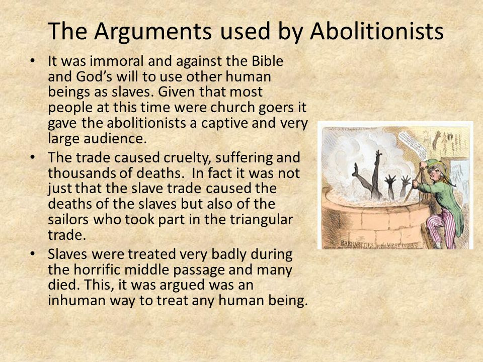 The Arguments used by Abolitionists