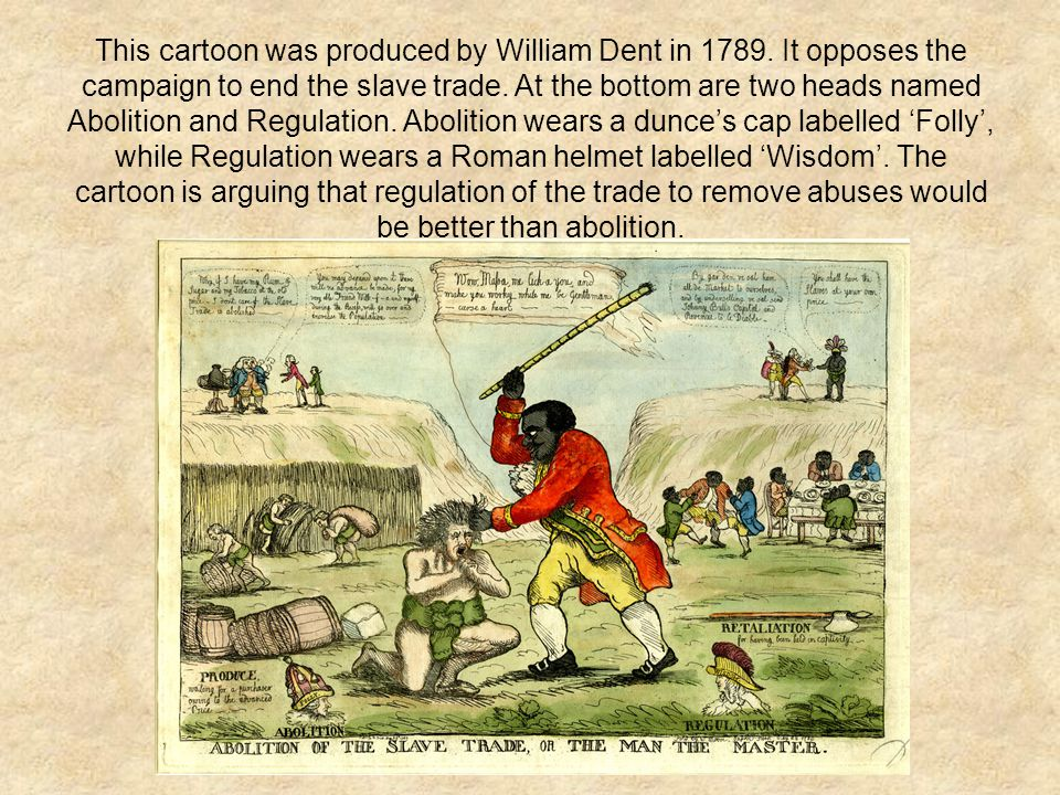 This cartoon was produced by William Dent in 1789