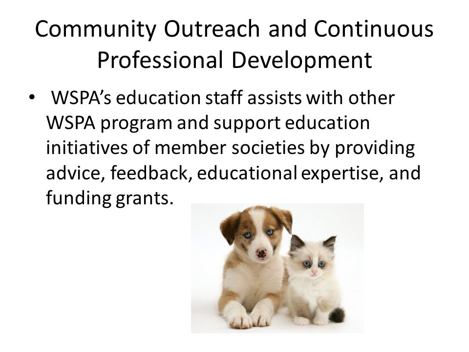 Community Outreach and Continuous Professional Development