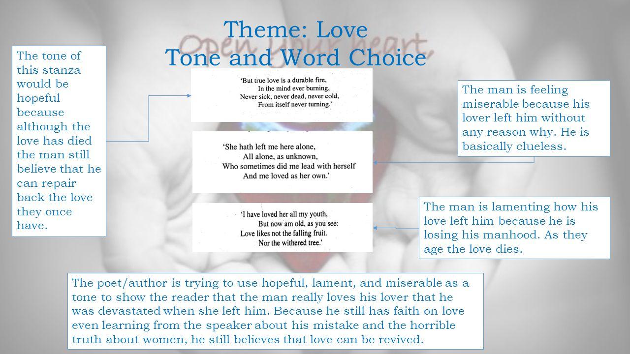 Theme: Love Tone and Word Choice