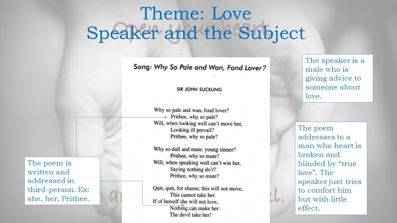 Theme: Love Speaker and the Subject