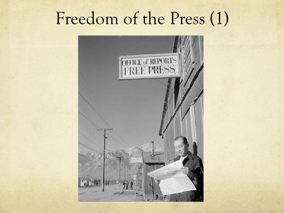 Freedom of the Press (1)