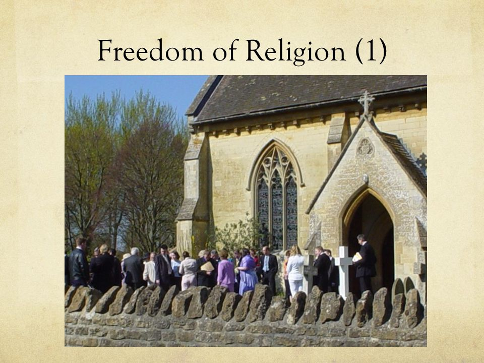 Freedom of Religion (1)