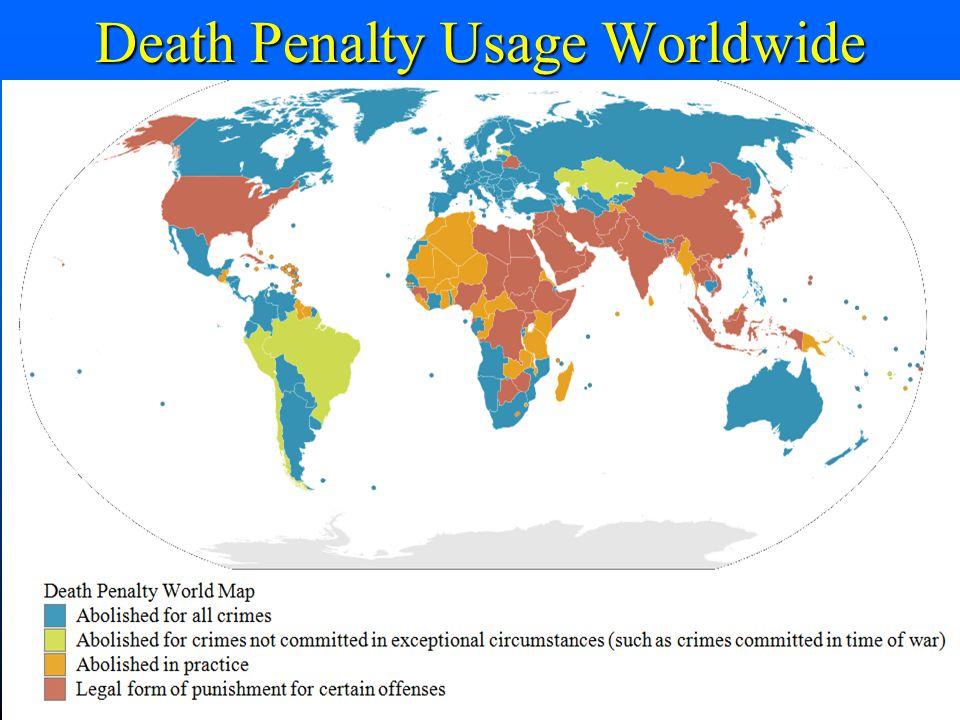 Death Penalty Usage Worldwide