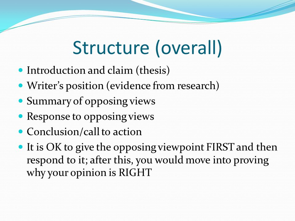 Example of a research proposal structure