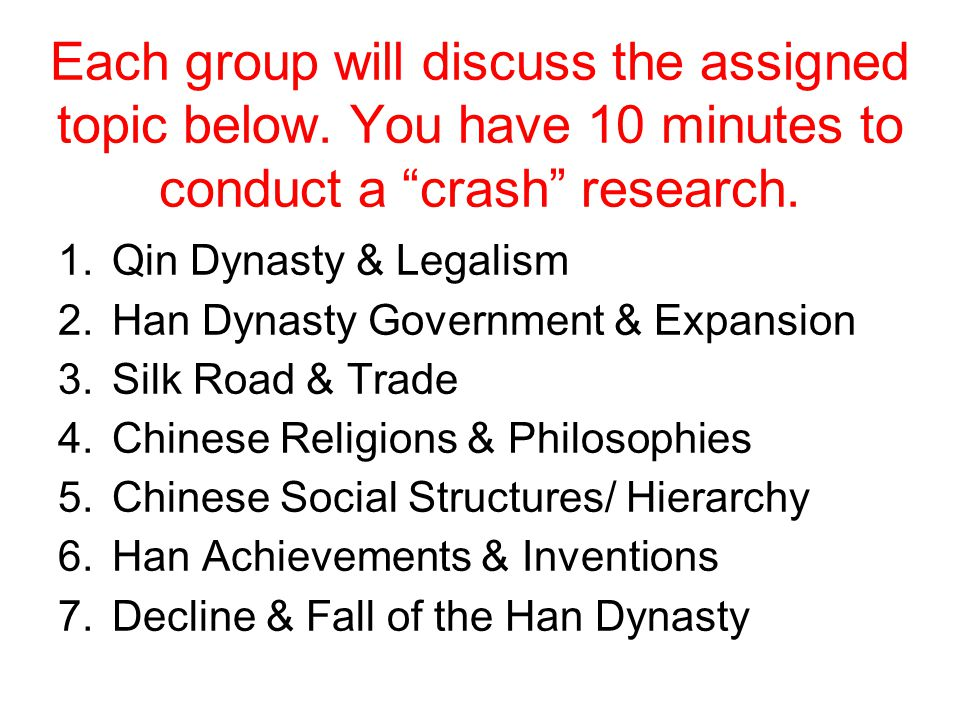 Each group will discuss the assigned topic below