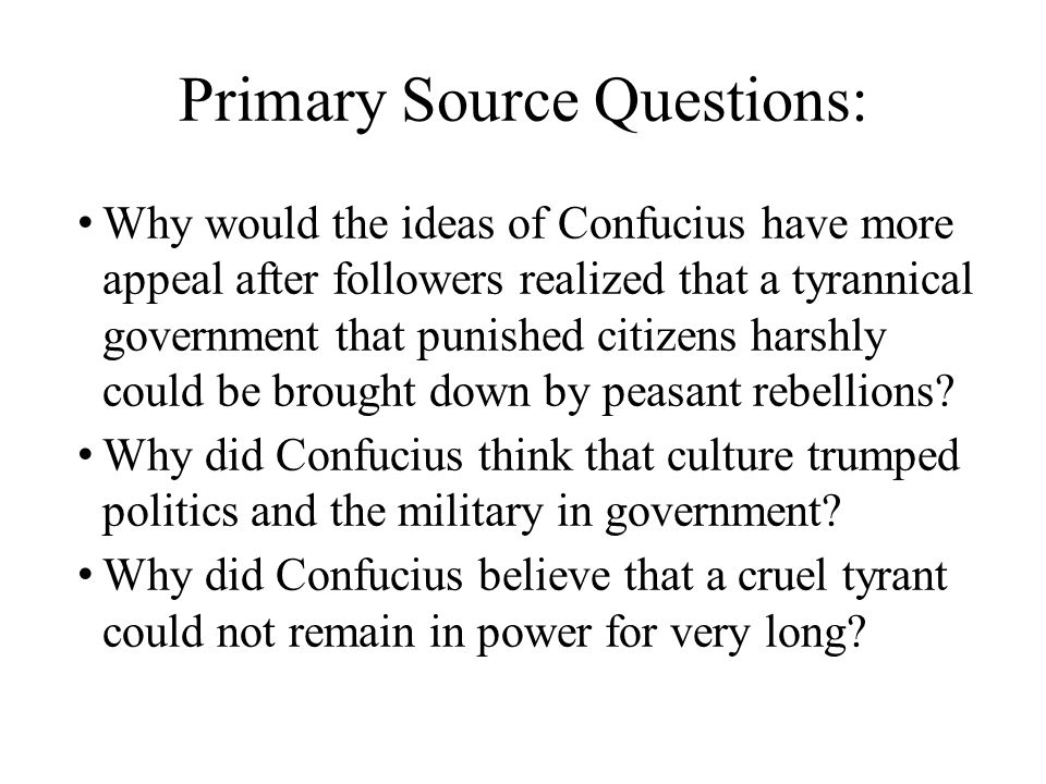 Primary Source Questions: