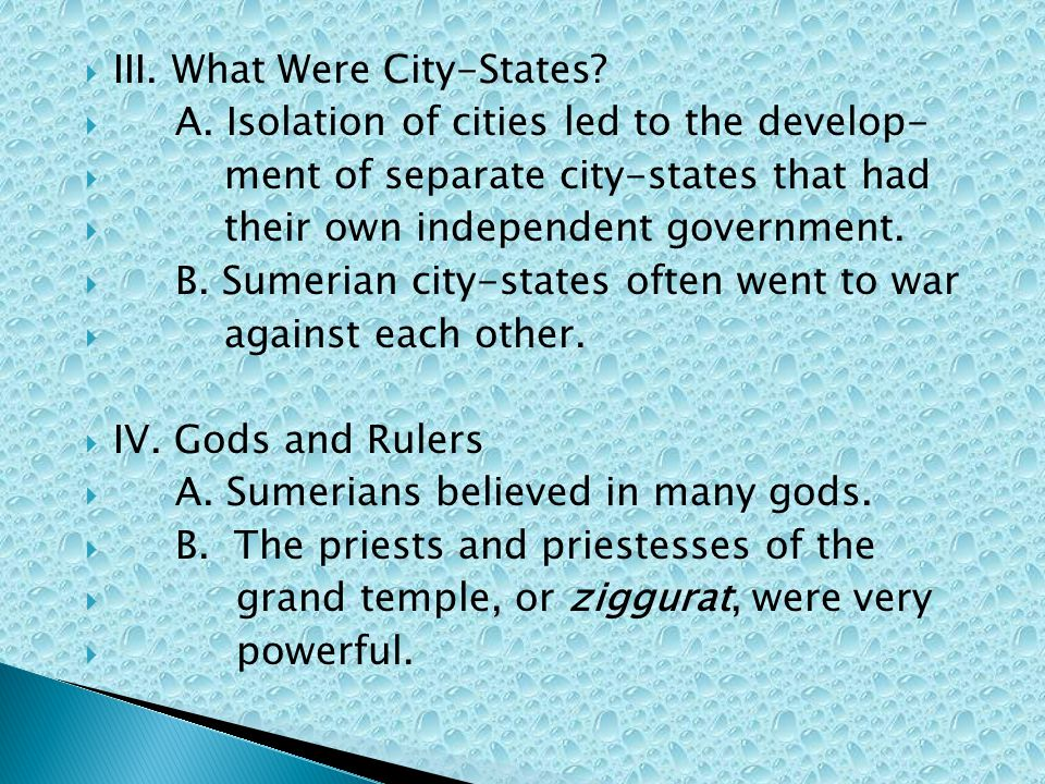 III. What Were City-States