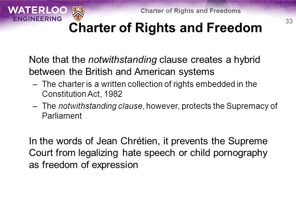Charter of Rights and Freedom