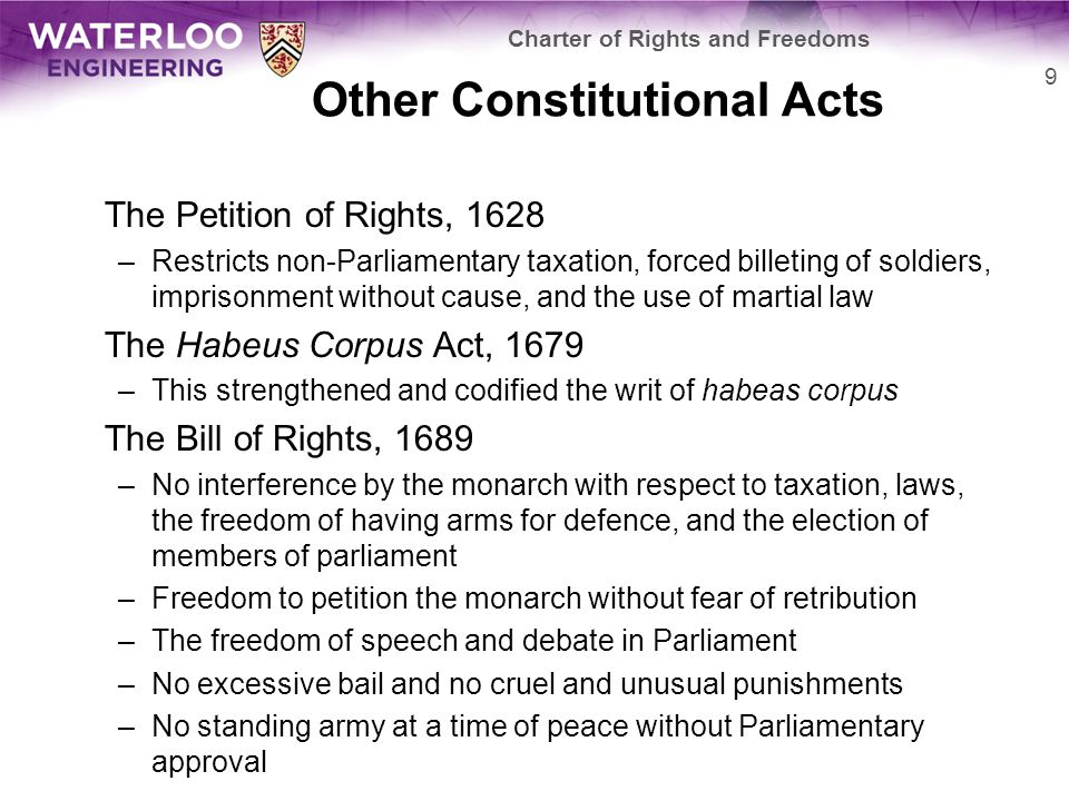 Other Constitutional Acts