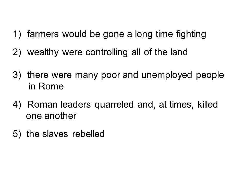 farmers would be gone a long time fighting