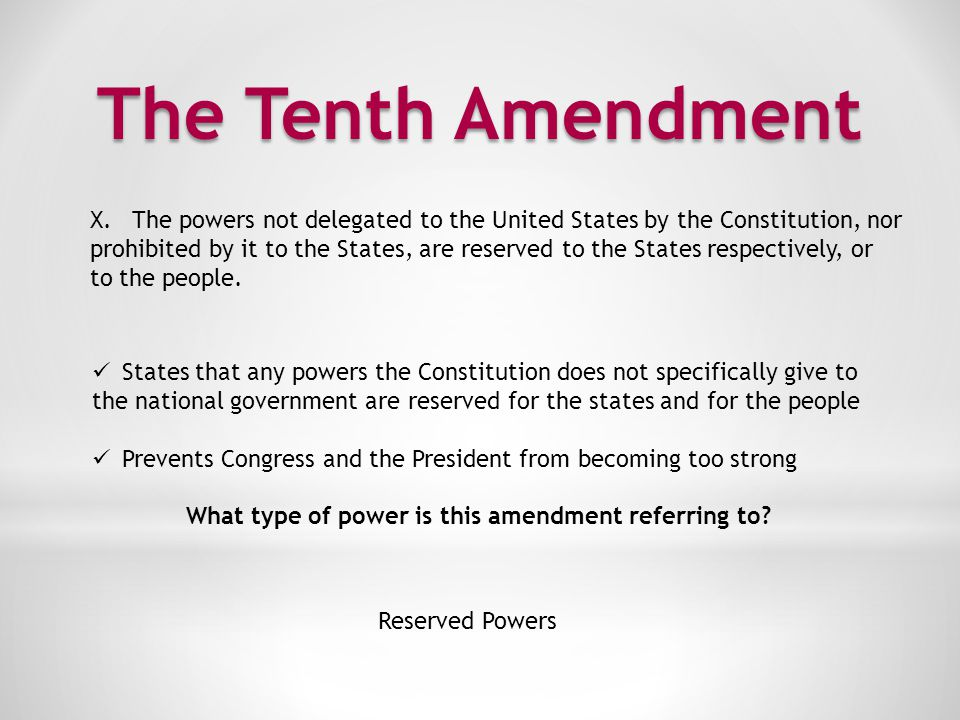 What type of power is this amendment referring to