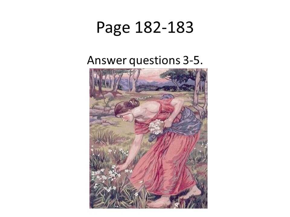 Page Answer questions 3-5.