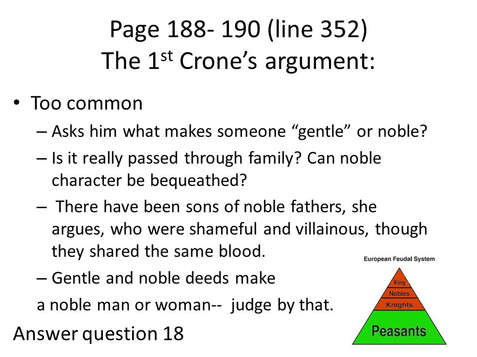 Page 188- 190 (line 352) The 1st Crone's argument: