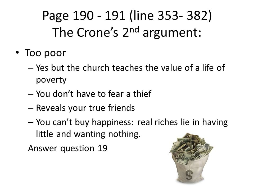 Page (line ) The Crone's 2nd argument: