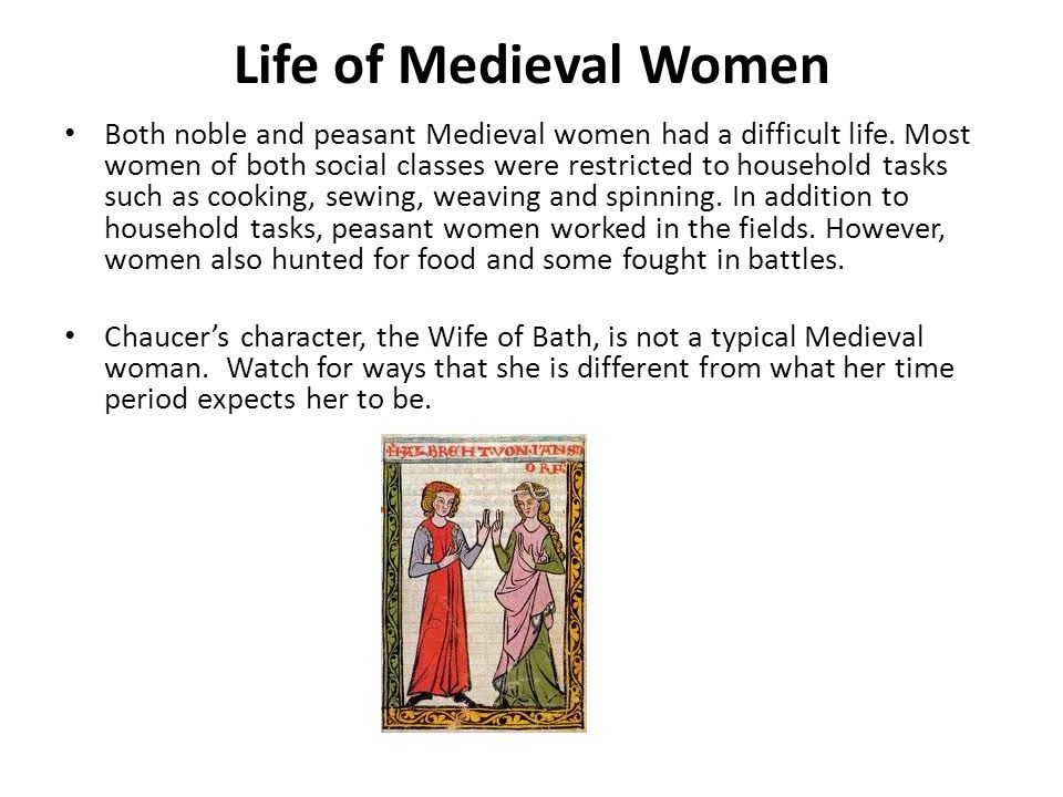 Life of Medieval Women