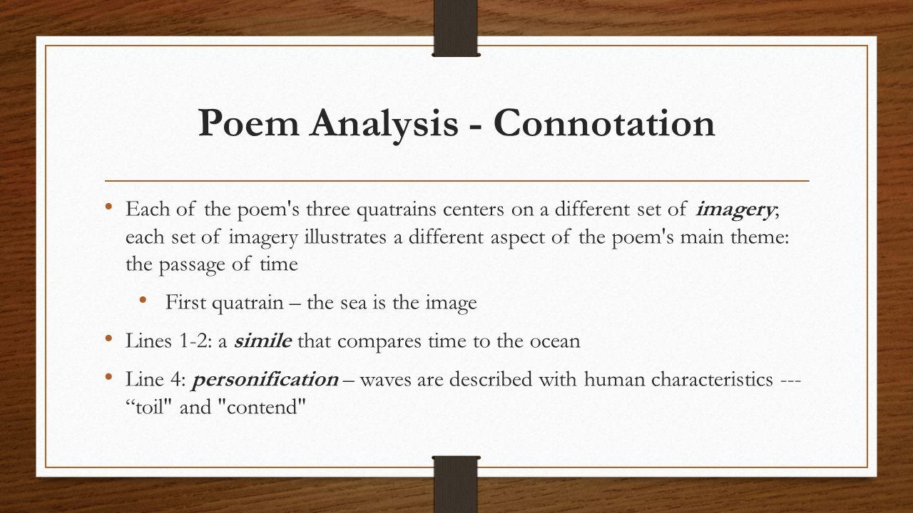 Poem Analysis - Connotation