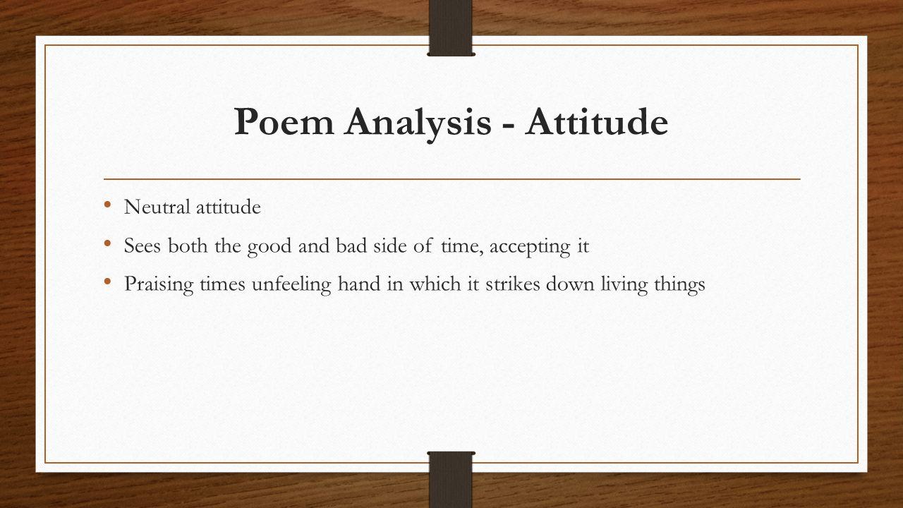 Poem Analysis - Attitude