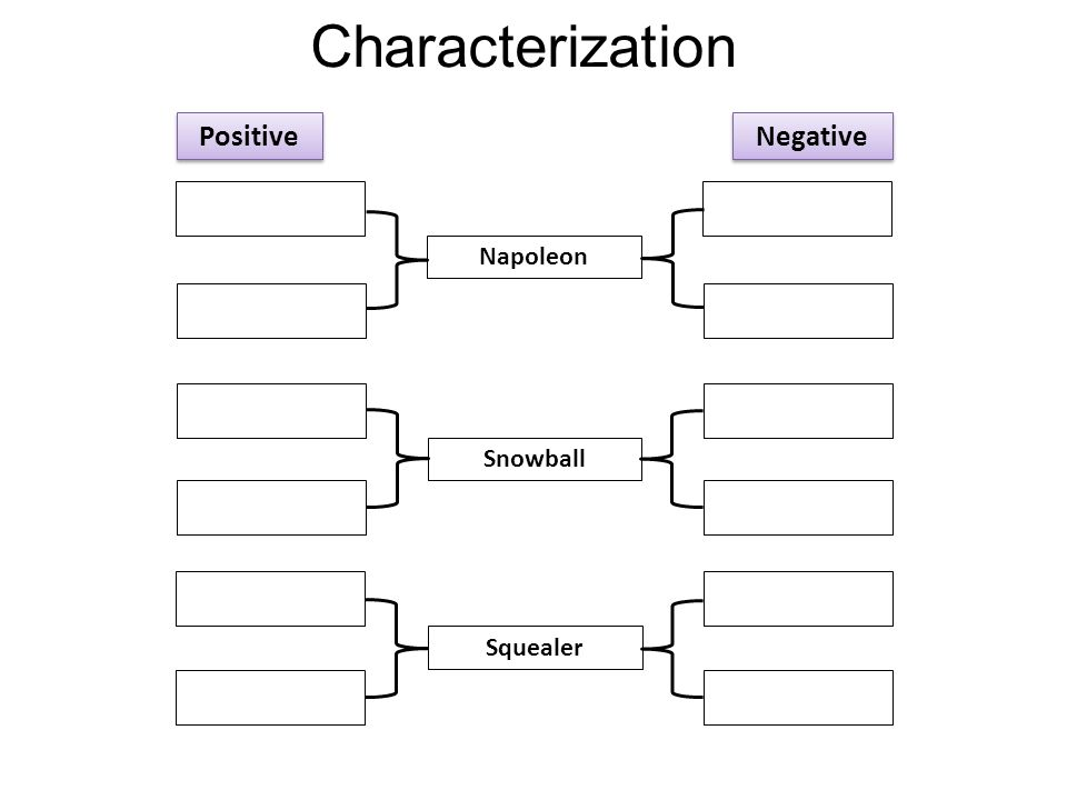 Characterization Positive Negative Napoleon Snowball Squealer