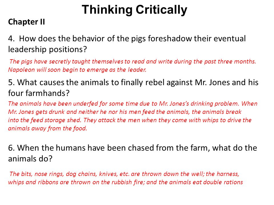 Thinking Critically Chapter II