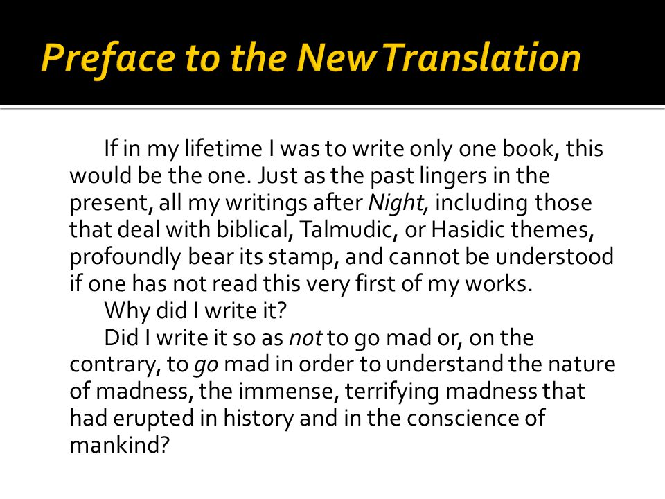 Preface to the New Translation