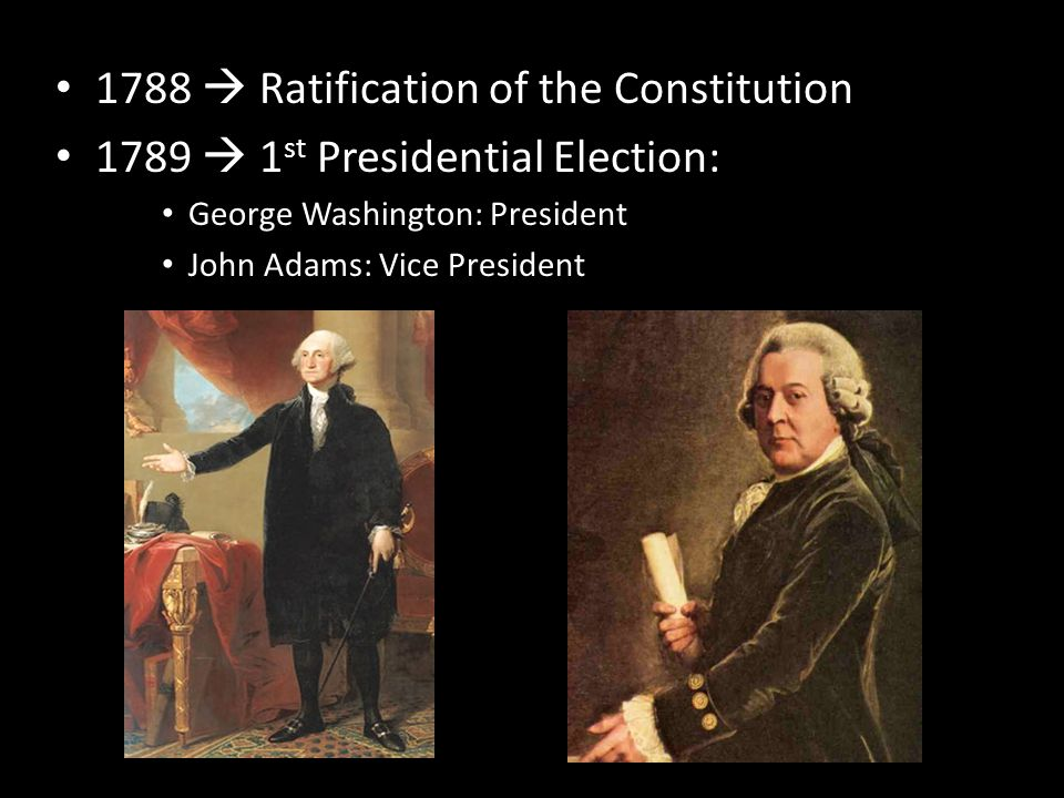 1788  Ratification of the Constitution