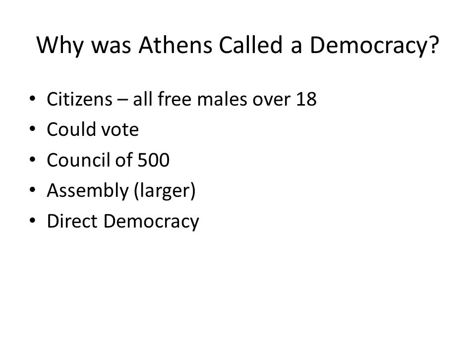 Why was Athens Called a Democracy