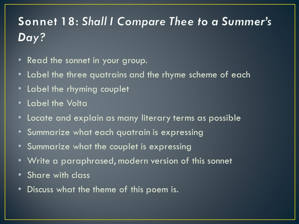 Analysis of William Shakespeare's Sonnet 18: Famous Love Poem